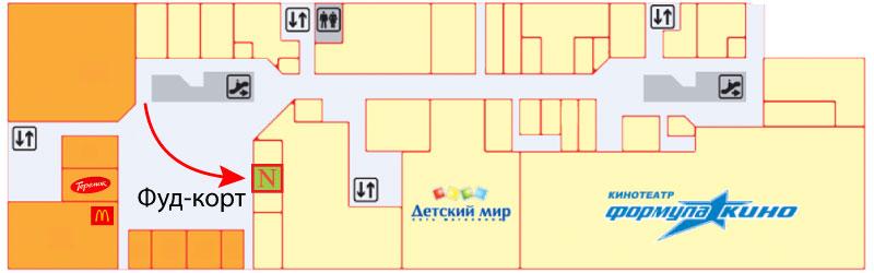 NailLand Схема расположения на этаже
